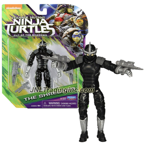 Playmates Year 2016 Teenage Mutant Ninja Turtles TMNT Movie Out of the Shadow Series 5 Inch Tall Action Figure - THE SHREDDER with Gauntlet Claws and Blaster