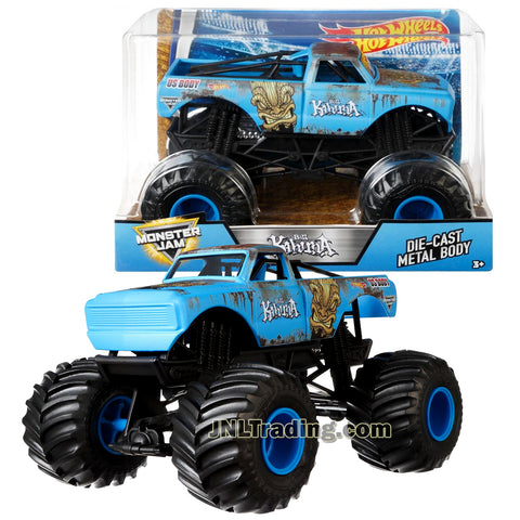 Hot Wheels Year 2017 Monster Jam 1:24 Scale Die Cast Metal Body Official Truck - BIG KAHUNA FMB65 with Monster Tires, Working Suspension and 4 Wheel Steering