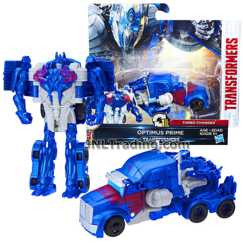 Transformers Year 2016 The Last Knight Movie Series 1 Step Changer 5 Inch Tall Figure - OPTIMUS PRIME (Vehicle Mode: Rig Truck)