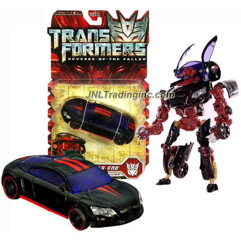 "Hasbro Year 2009 Transformers Movie Series 2 ""Revenge of the Fallen"" Deluxe Class 6 Inch Tall Robot Action Figure - Decepticon DEAD END with Spinning ""SAW"" Blade (Car Mode: Sports Car)"