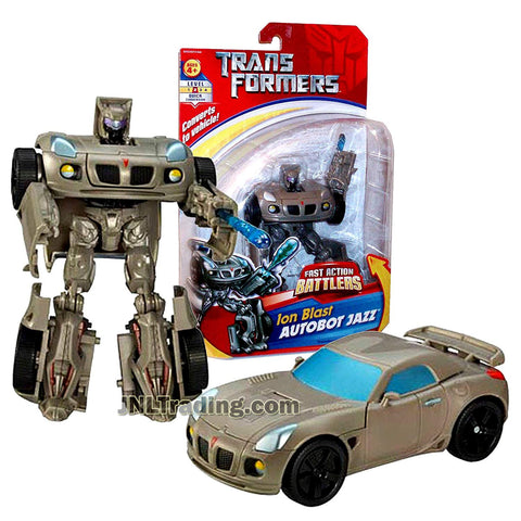 Year 2006 Transformer Fast Action Battlers Series 6 Inch Tall Figure - Ion Blast AUTOBOT JAZZ with Ion Blast Cannon (Vehicle Mode: Pontiac Solstice)