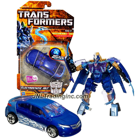 "Hasbro Year 2010 Transformers ""Hunts for the Decepticons"" Series 6 Inch Tall Deluxe Class Robot Action Figure - Autobot ELECTROSTATIC JOLT with Flip Out Electro Whips (Vehicle Mode: Chevy Volt)"