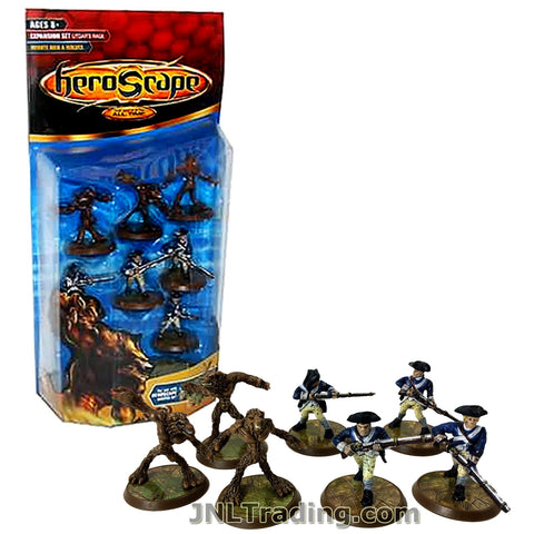 Heroscpae Year 2005 Expansion Set Collection 2 Utgar's Rage Series 7 Pack 1-1/2 Inch Tall Figure Set - MINUTE MEN AND WOLVES with 3 Anubian Wolves, 4 Minute Men, 2 Double-Hex Tiles and 2 Army Cards