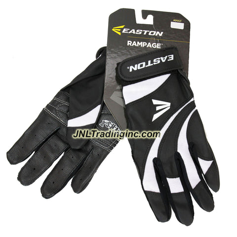 Easton Rampage Series Adult Baseball Softball Batting Glove - Color: Black and White, Size: L