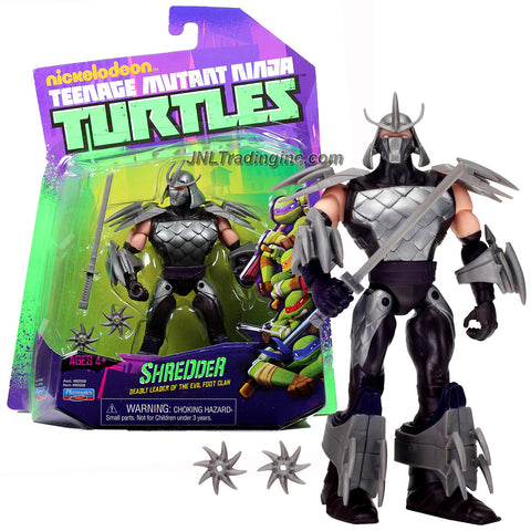 Playmates Year 2012 Nickelodeon Teenage Mutant Ninja Turtles 5 Inch Tall Action Figure - Deadly Leader of the Evil Foot Clan SHREDDER with Katana Sword and 2 Ninja Stars