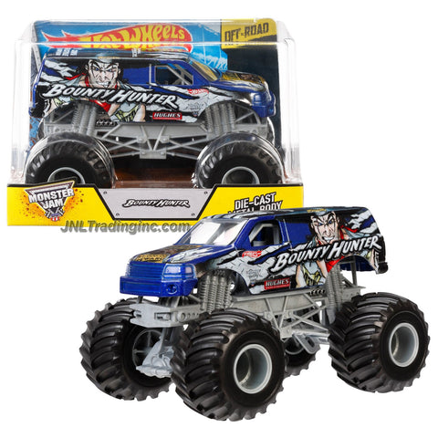"Hot Wheels Year 2014 Monster Jam 1:24 Scale Die Cast Official Monster Truck Series - 2005 Freestyle Champion BOUNTY HUNTER (CCF27) with Monster Tires, Working Suspension and 4 Wheel Steering (Dimension - 7"" L x 5-1/2"" W x 4-1/2"" H)"