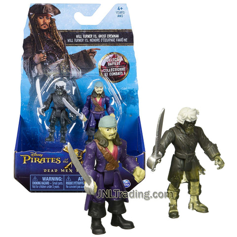 Pirates POTC of the Caribbean Dead Men Tell No Tales Series 2 Pack 3 Inch Tall Figure - Will Turner and Ghost Crewman