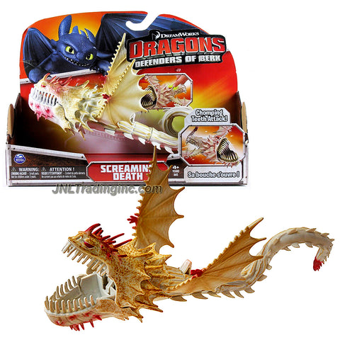 "Spin Master Year 2013 Dreamworks Movie Series ""DRAGONS - Defenders of Berk"" 10 Inch Long Dragon Figure - SCREAMING DEATH with Poseable Tail and Chomping Teeth Attack"