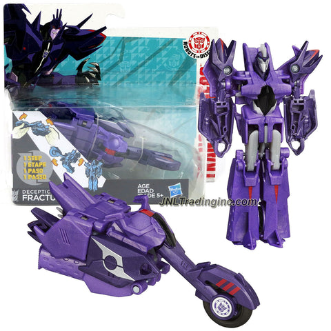 Hasbro Year 2014 Transformers Robots in Disguise Animation Series One Step Changer 5 Inch Tall Robot Action Figure - Decepticon FRACTURE (Vehicle Mode: Motorcycle)