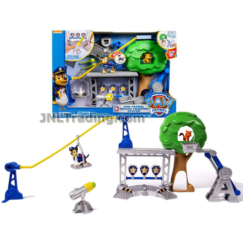 Year 2014 Paw Paws Patrol Series Puppy Dog Figure Playset - Rescue Training Center with Chase, Itty Bitty Kitty and Chickaletta