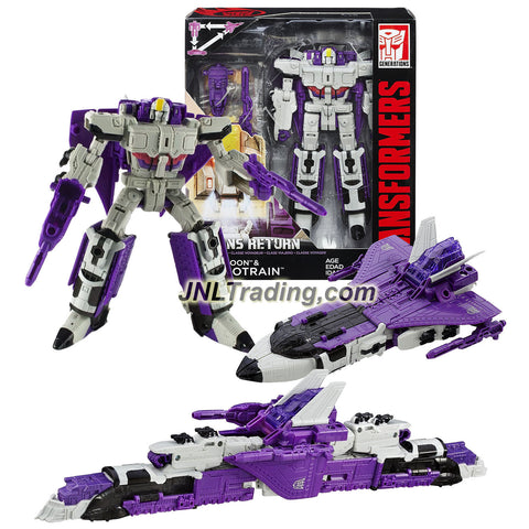 Hasbro Year 2015 Transformers Generations Titans Return Voyager Class 7 Inch Tall Figure - DARKMOON and ASTROTRAIN with Blasters and Card (Alt Mode: Jet and Train)