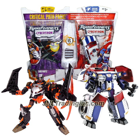 "Hasbro Transformers Cybertron Series 2 Pack Deluxe Class 6"" Tall Figure - CRITCAL PATH with SIDEWAYS and RED ALERT Plus 2 Cyber Planet Keys"