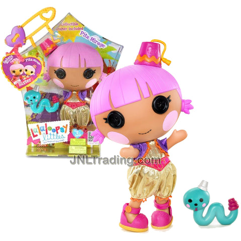 Lalaloopsy Sew Magical! Sew Cute! 7-1/2 Inch Tall Button Doll - Pita Mirage with Pet Green Snake Plus Bonus Poster Inside