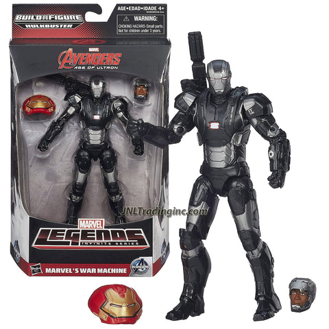 "Hasbro Year 2015 Marvel Legends Infinite Hulkbuster Series 6"" Tall Action Figure - MARVEL'S WAR MACHINE with Alternative Head (Colonel James Rhodes) Plus Hulkbuster's Head"