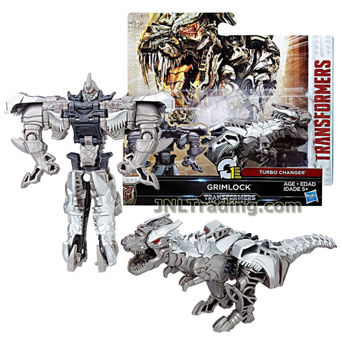 Transformers Year 2016 The Last Knight Movie Series 1 Step Changer 5 Inch Tall Figure -GRIMLOCK (Beast Mode: Dinobot T-Rex)