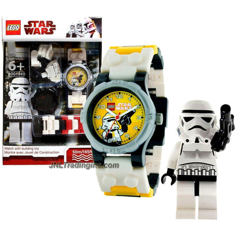 Lego Year 2010 Star Wars Series Watch with Minifigure Set #9001949 - STORMTROOPER Watch Plus Stormtrooper Minifigure with Blaster Pistol (Water Resistant: 50m/165ft)