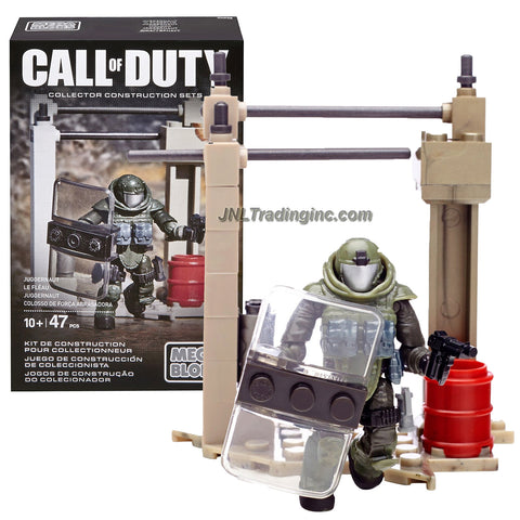 Mega Bloks Year 2015 Call of Duty Series Micro Action Figure Set CNF08 - JUGGERNAUT with Riot Shield, Gun, Stun Grenade and Buildable Outpost