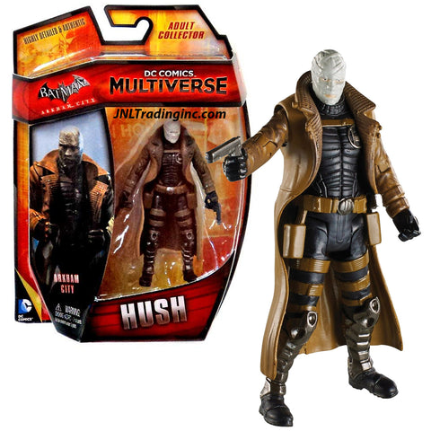 "Mattel Year 2014 DC Comics Multiverse Batman Arkham City 4"" Tall Figure - Villain Thomas Elliot aka HUSH with 2 Handguns"