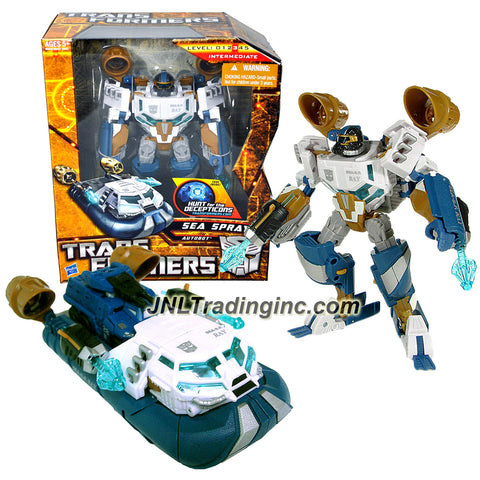 Hasbro Year 2009 Transformers Hunts for the Decepticons Series 7 Inch Tall Voyager Class Robot Action Figure - Autobot SEA SPRAY with Double Harpoon Launchers (Vehicle Mode: Hovercraft)