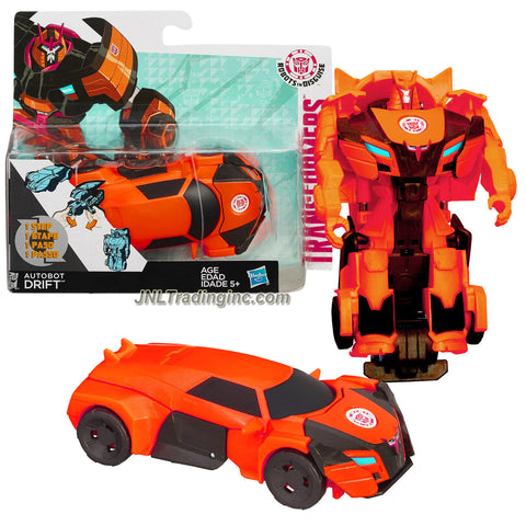 Hasbro Year 2014 Transformers Robots in Disguise Animation Series One Step Changer 5 Inch Tall Robot Action Figure - Autobot DRIFT (Vehicle Mode: Sports Car)
