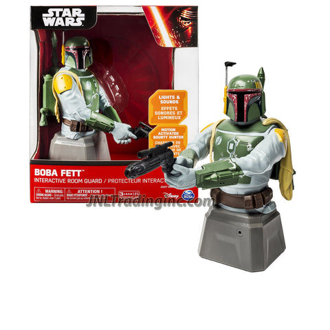 "Spin Master Star Wars Series 8"" Tall Interactive Room Guard - Motion Activated Bounty Hunter BOBA FETT with Lights and Sounds"