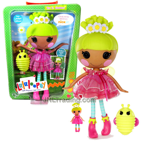 Lalaloopsy Sew Magical! Sew Cute! Limited Edition 12 Inch Tall Button Doll - Pix E. Flutters with Pet Green Firefly and Bonus Mini 3 Inch Doll
