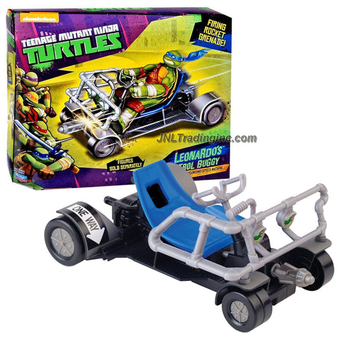 "Playmates Year 2014 Nickelodeon Teenage Mutant Ninja Turtles Action Figure Vehicle Set - Pavement Pounding Speed Machine LEONARDO'S PATROL BUGGY with Rocket ""Grenade"" Missile Launcher and 1 Missile (Figure is not Included)"