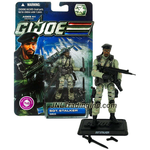 Hasbro Year 2011 G.I. JOE A Real American Hero 30th Anniversary Series 4 Inch Tall Action Figure - Ranger SGT. STALKER with Guns, Rifle, Machete, Sword and Display Base