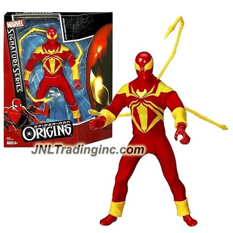 Hasbro Year 2006 Marvel Legends Signature Series Spider-Man Origins 9 Inch Tall Fully Posable Action Figure : IRON SPIDER-MAN with Trio Spider Legs