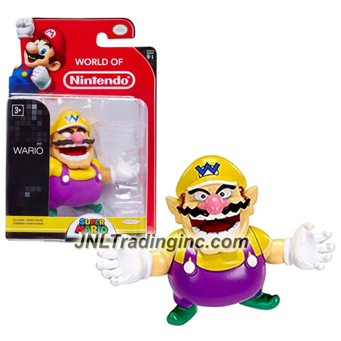 "Jakks Pacific Year 2014 World of Nintendo ""Super Mario"" Series 2-1/2 Inch Tall Mini Figure - WARIO"