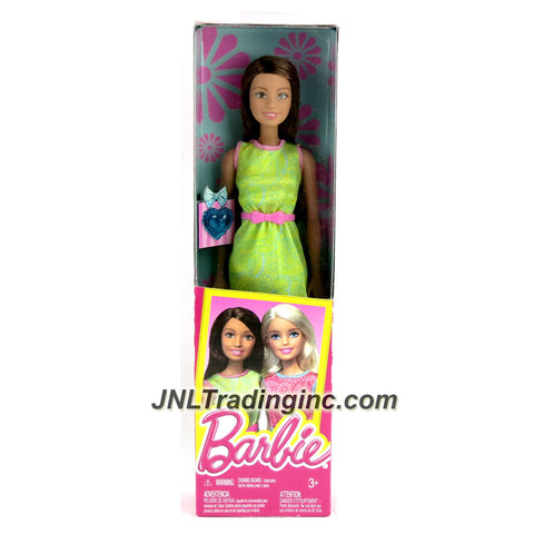 Mattel Year 2015 Barbie Friends Series 12 Inch Doll - TERESA (DGX63) in Green Dress with Pink Belt and Blue Heart Accessory