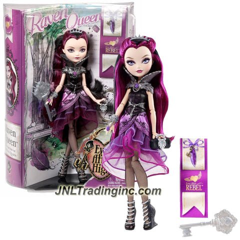 Mattel Year 2013 Ever After High Story Series 11 Inch Doll Set - Daughter of the Evil Queen RAVEN QUEEN (BBD42) with Purse, Hairbrush and Doll Stand