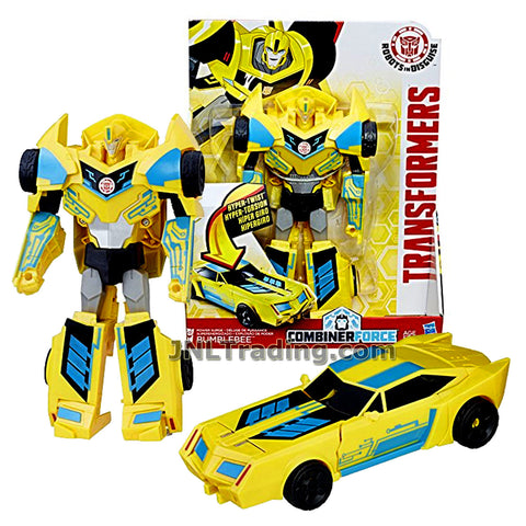 Transformer Year 2016 Robots In Disguise Combiner Force 3 Steps Change Series 8 Inch Tall Figure - POWER SURGE BUMBLEBEE (Vehicle Mode: Sports Car)
