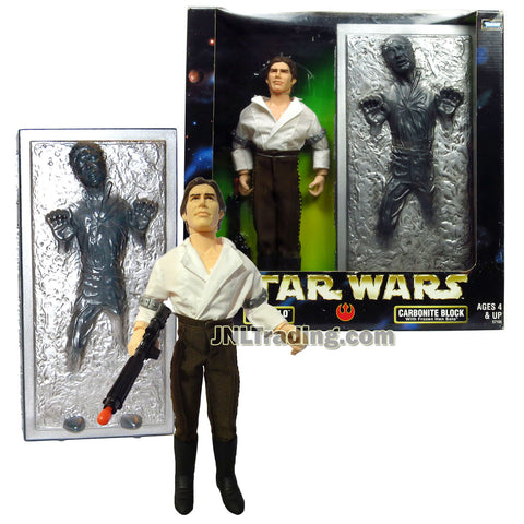 Star Wars Year 1998 The Empire Strikes Back Series 12 Inch Tall Figure - HAN SOLO as Prisoner and CARBONITE BLOCK with Frozen Han Solo Plus Blaster