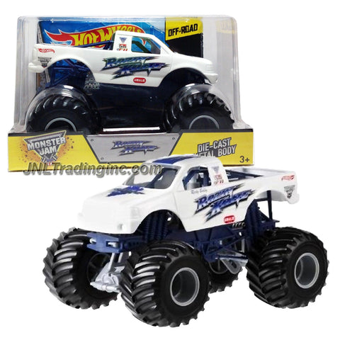 "Hot Wheels Year 2013 Monster Jam 1:24 Scale Die Cast Official Monster Truck Series - RAZIN KANE (BGH30-0910) with Monster Tires, Working Suspension and 4 Wheel Steering (Dimension - 7"" L x 5-1/2"" W x 4-1/2"" H)"