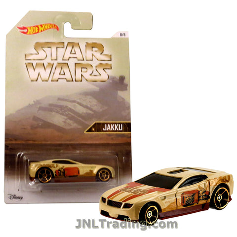 Hot Wheels Year 2015 Star Wars Series 1:64 Scale Die Cast Car Set 8/8 - Light Brown Color JAKKU TORQUE SCREW DJL04