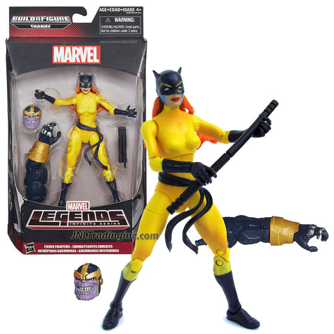 "Hasbro Year 2015 Marvel Legends Infinite Thanos Series 6"" Tall Action Figure - Fierce Fighters HELLCAT with Battle Staff Plus Thanos' Head and Left Arm"