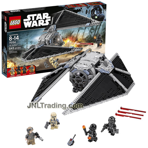 Lego Year 2016 Star Wars Rogue One Series Set #75154 - TIE STRIKER with TIE Pilot, Imperial Ground Crew, Imperial Shoretrooper and Rebel Trooper Minifigure (Pieces: 543)