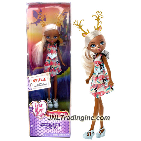 Mattel Year 2014 Ever After High Dragon Games Series 8 Inch Doll - Forest Pixies DEERLA (DHG01)