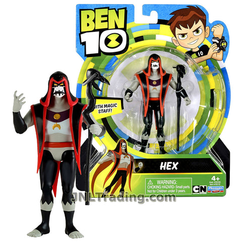 Cartoon Network Year 2017 Ben 10 Series 5 Inch Tall Figure - HEX with Magic Staff