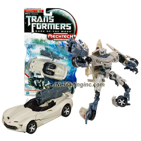 "Hasbro Year 2010 Transformers Movie Series 3 ""Dark of the Moon"" Deluxe Class 6 Inch Tall Robot Action Figure with MechTech Weapon System - Autobot SIDESWIPE with Blaster that Converts to Cybertanium Sword (Vehicle Mode: Convertible Corvette STINGRAY)"