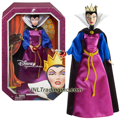 Mattel Year 2013 Disney Signature Collection Snow White and the Seven Dwarf Series 12 Inch Doll - EVIL QUEEN (BDJ33) with Apple