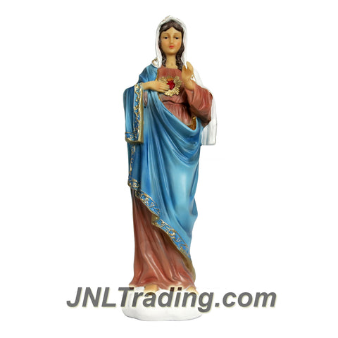Giovanni Giftware Collection Religious Home Decor Catholic Saints Series 12 Inch Tall Figurine - SACRED HEART OF IMMACULATE MARY (D28114)