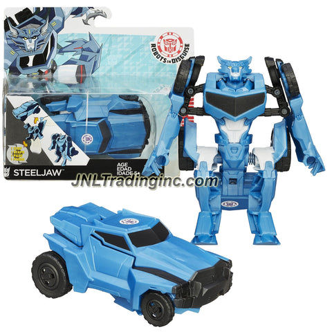 Hasbro Year 2014 Transformers RID Animation Series One Step Changer 5 Inch Tall Robot Figure - Decepticon Werewolf STEELJAW (Vehicle Off-Road Truck)