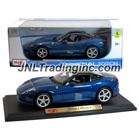 "Maisto Special Edition Series 1:18 Scale Die Cast Car -  Blue Grand Touring Sports Coupe FERRARI CALIFORNIA T (Dimension: 9"" x 4"" x 2-1/2"")"