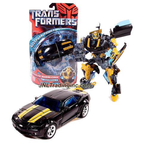 Hasbro Year 2007 Transformers Movie All Spark Power Series Deluxe Class 6 Inch Tall Robot Action Figure - Autobot STEALTH BUMBLEBEE with Cannon that Converts to Blade (Vehicle Mode: Camaro Concept)