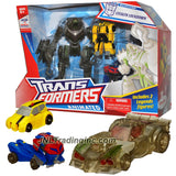 Transformer Year 2008 Animated Series Exclusive 3 Pack Figure Set - Deluxe Class STEALTH LOCKDOWN with Legends Class Bumblebee and Optimus Prime