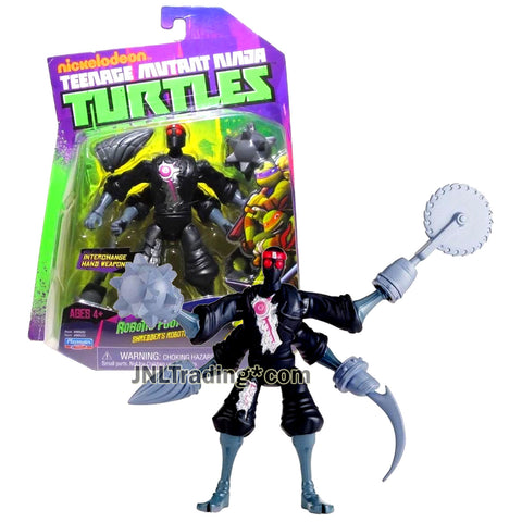 Year 2014 Teenage Mutant Ninja Turtles TMNT 5 Inch Tall Figure - Shredder's Army ROBOTIC FOOT SOLDIER with Four Arms and 4 Interchange Hand Weapons