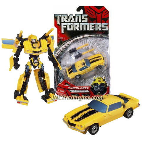 Hasbro Year 2006 Transformers Movie Series Deluxe Class 6 Inch Tall Robot Action Figure - Autobot BUMBLEBEE with Double Missile Launching Blasters (Vehicle Mode: Classic 1974 Camaro)