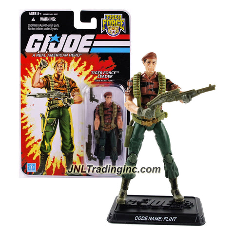 Hasbro Year 2007 G.I. JOE A Real AMerican Hero Series 4 Inch Tall Action Figure - TIGER FORCE LEADER FLINT with Gun, Shotgun and Display Base